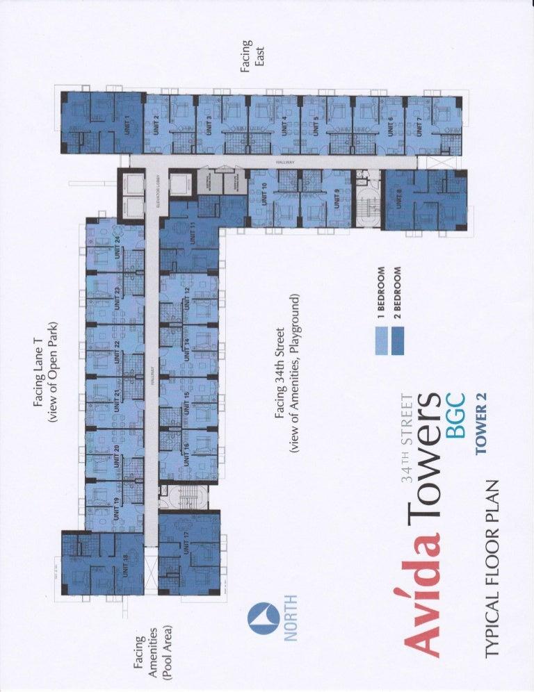 Avida Tower 34th T2 Typcial Floor Plan