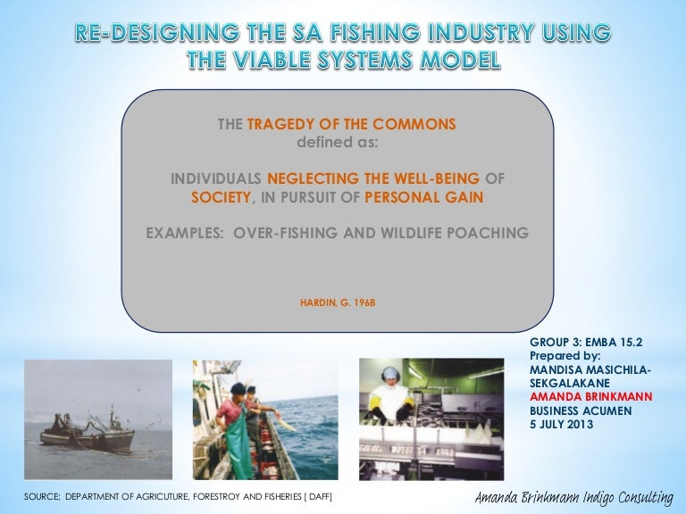 Avoiding The Tragedy Of The Commons In Sa Fishing Industry A Si