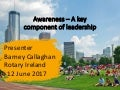 Awareness: A Key Component of Leadership
