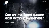 Can an intelligent system exist without awareness? BDS18