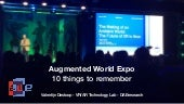 Augmented World Expo : 10 things to remember