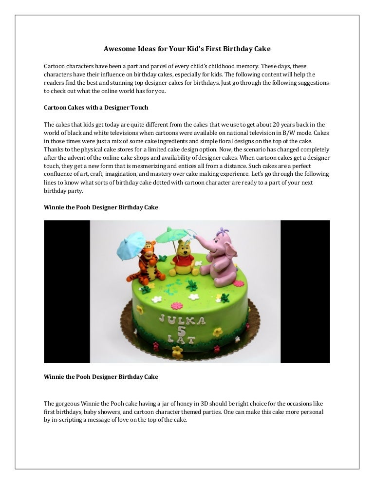 Awesome Ideas For Your Kid S First Birthday Cake