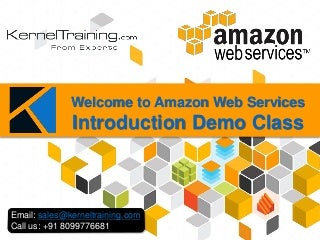 AMAZON WEB SERVICES introduction - AWS Basics - Demo PPTs
