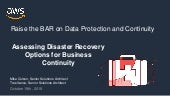 Assessing Disaster Recovery Options for Business Continuity