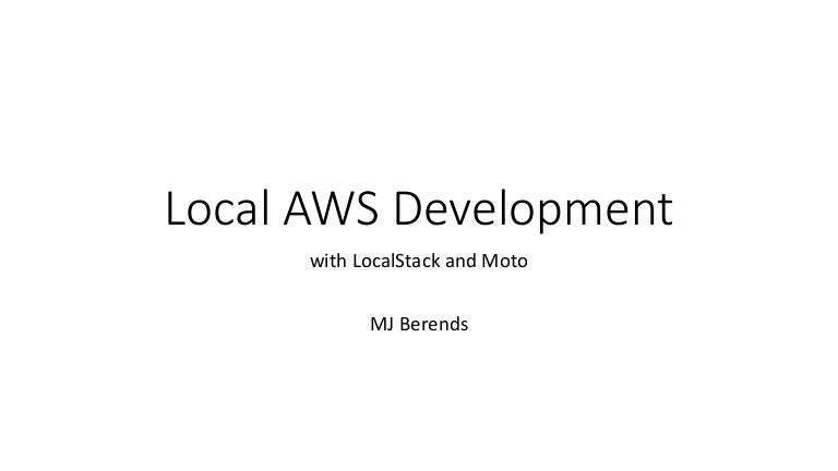 MJ Berends talk from AWS Chicago Summit