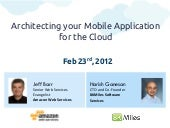 Webinar: Architecting your Mobile App for the Cloud