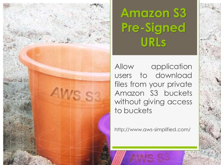 Amazon s3 bucket file download through Pre-signed Timebound URLs