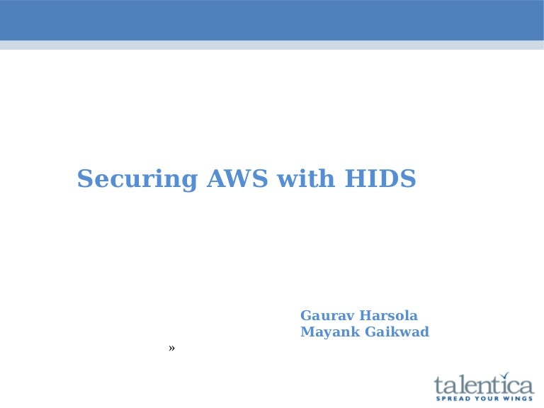 Aws security with HIDS using Ossec