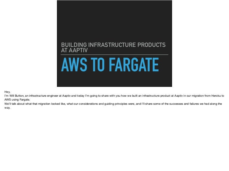 Build an Infra Product with AWS Fargate