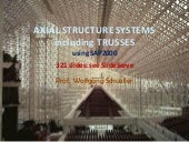 Axial structures including trusses using SAP2000, wolfgang schueller