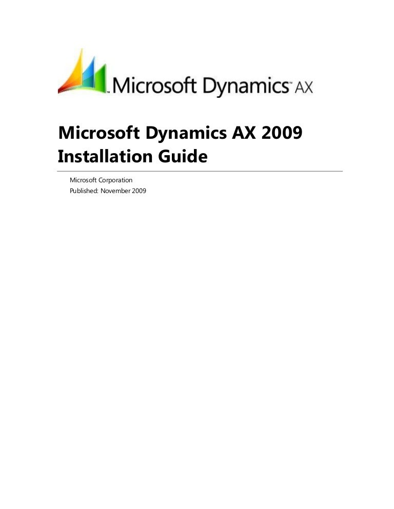 Ax installation guide.