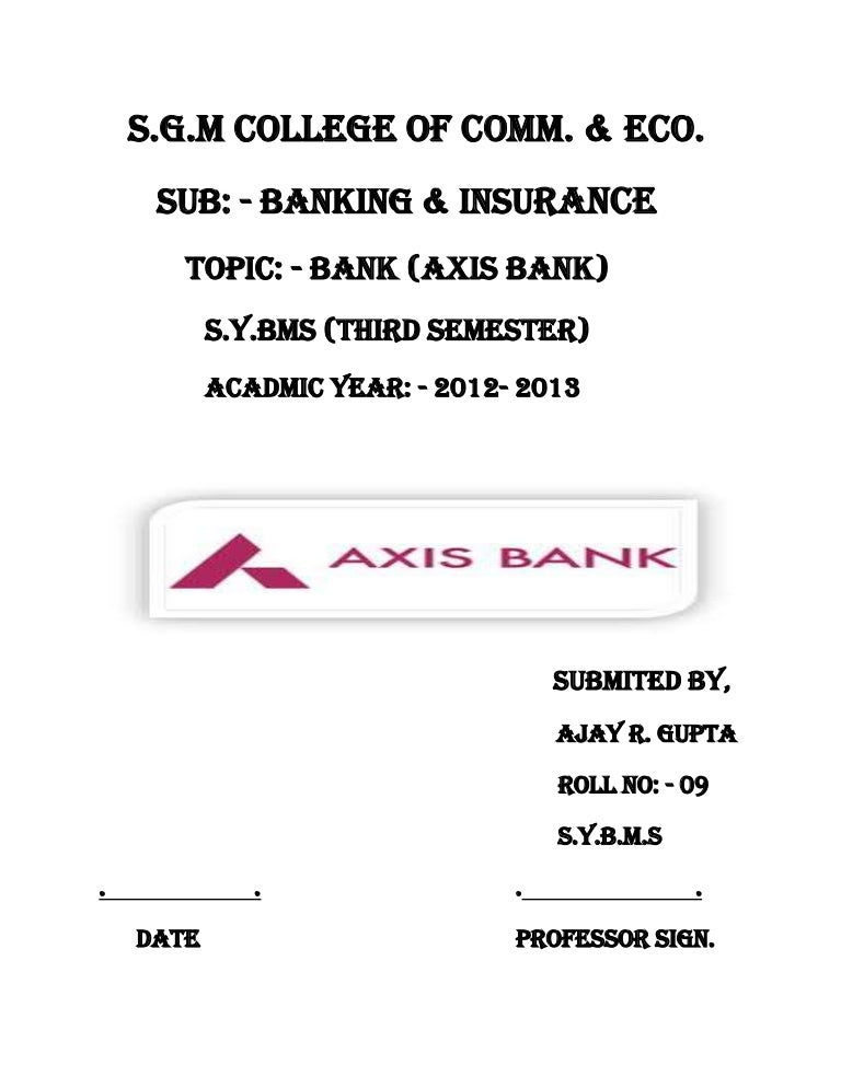 axis bank for ajay