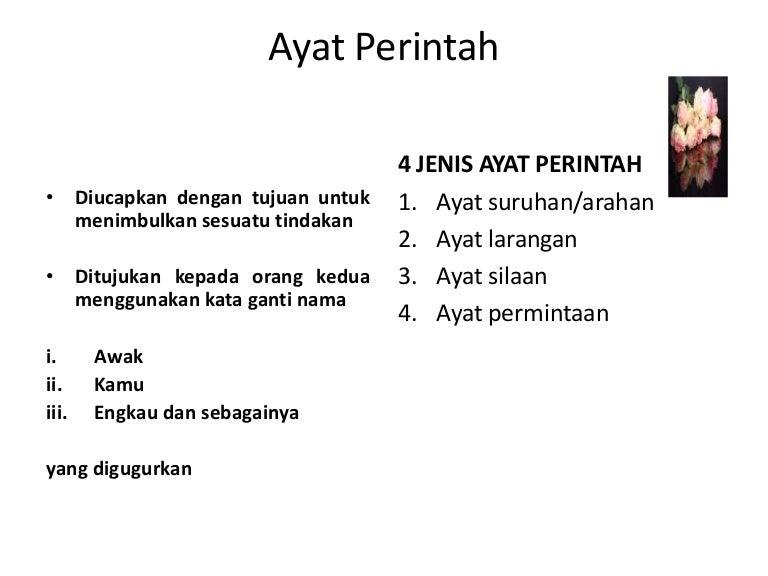 Bahasa Melayu Tatabahasa Ayat Perintah
