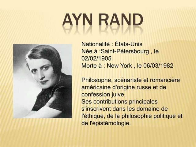 Ayn Rand par touron bontemps koehl