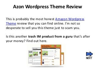Azon WordPress Theme : An Honest Review