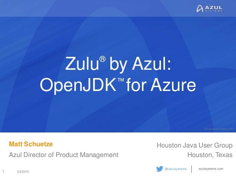 Azul Zulu: OpenJDK for Microsoft Azure