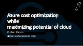 Microsoft Azure Cost Optimization and improve efficiency