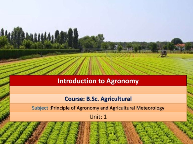 Principles Of Agronomy By Reddy Pdf