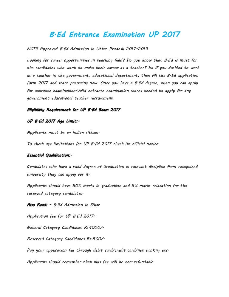 B.ed entrance examination up 2017 on application for scholarship sample, application cartoon, application insights, application clip art, application database diagram, application to rent california, application for rental, application to join motorcycle club, application in spanish, application approved, application template, application meaning in science, application for employment, application to be my boyfriend, application trial, application to date my son, application service provider, application to join a club, application error, application submitted,