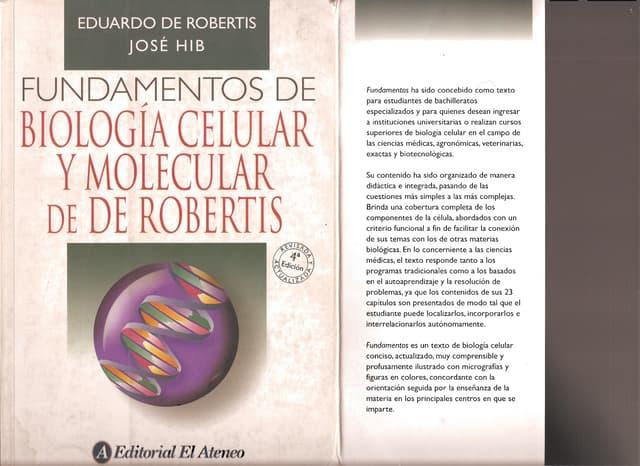 Biología Celular y Molecular  de Robertis- 4 ED.