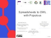 Spreadsheets to OWL
