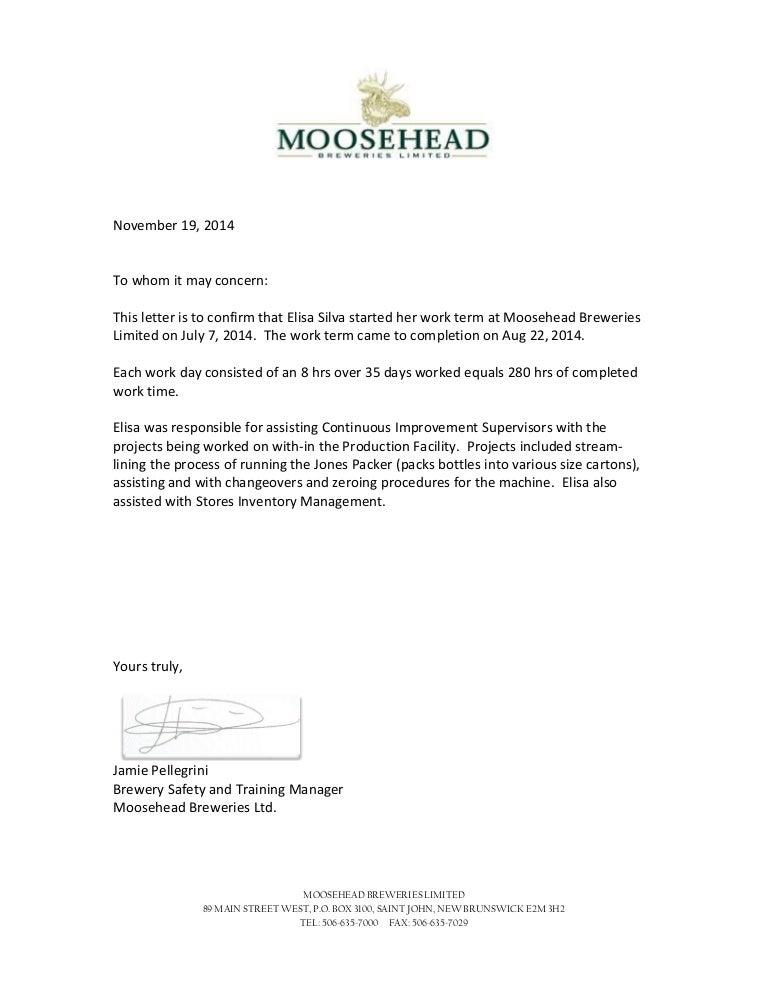 elisa silva brazil student letter of completion