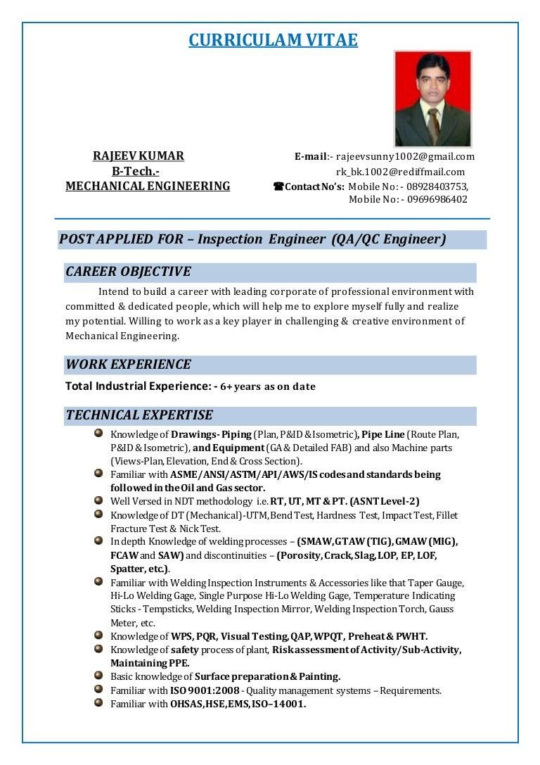 plant inspector resume
