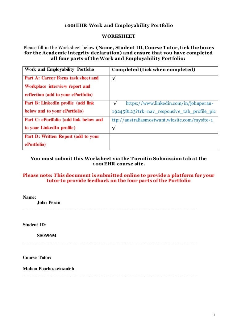 Worksheets Employability Skills Worksheets 1001ehr we worksheet sem 2 20161