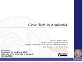 Civictech in Academia
