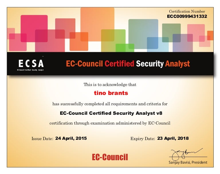 ecsa certificate