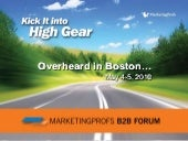 Overheard at the MarketingProfs B2B Forum