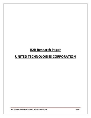 B2 b research paper united technologies corporation
