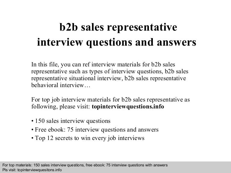 b2bsalesrepresentativeinterviewquestionsandanswers 140817102611 phpapp02 thumbnail 4jpgcb1408271204