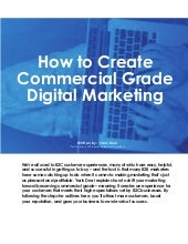 How to Create Commercial Grade Digital Marketing