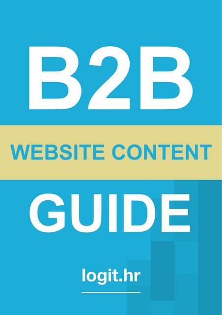 B2B Website Content Guide Sample