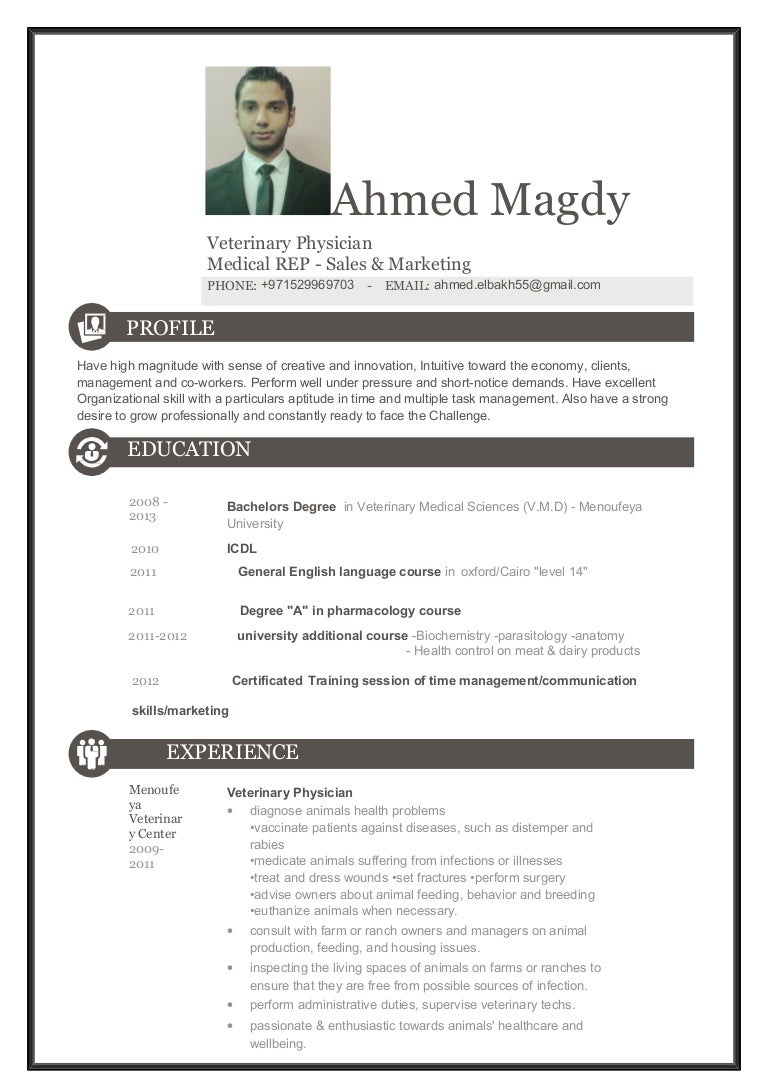 medical representative resume