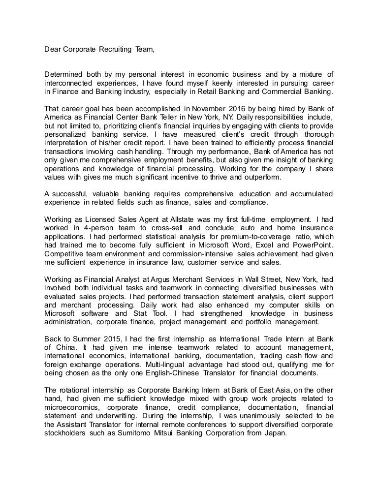 Business Cover Letter Personal Statement