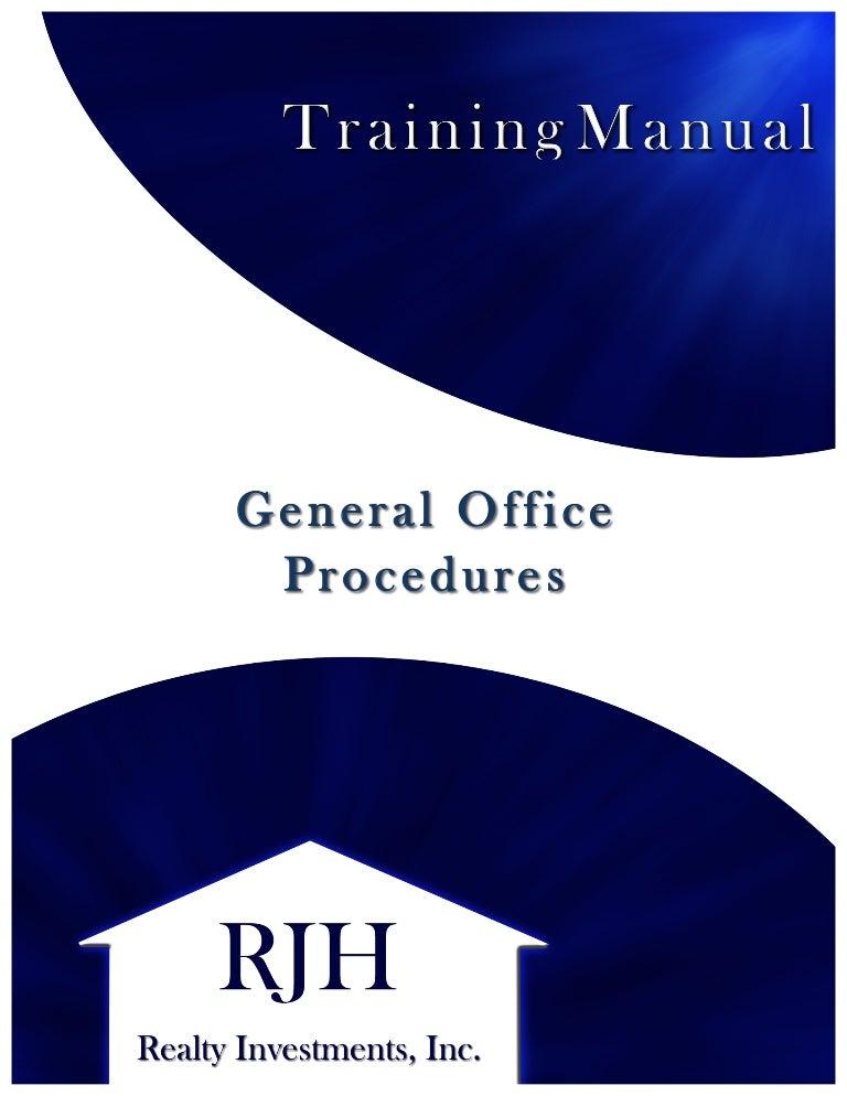 RJH Training Manual (SAMPLE)