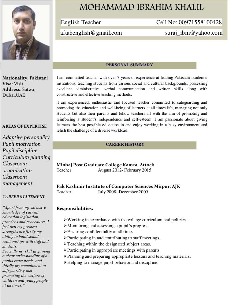 resume for english teacher canre klonec co