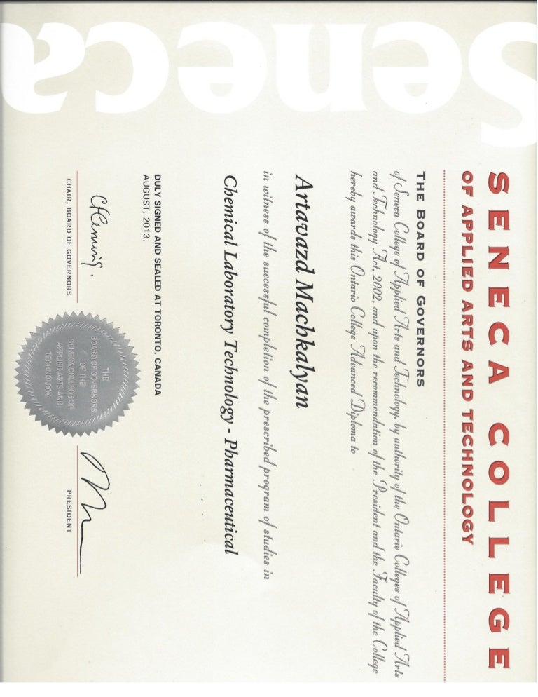 Seneca Advanced Diploma