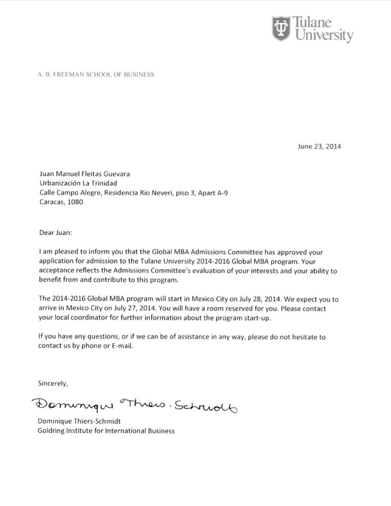 Cover letter admission university