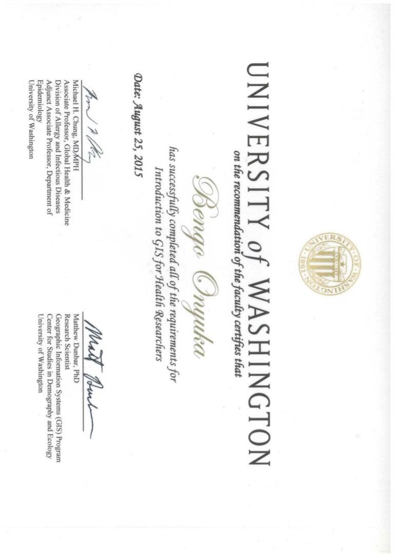 certificate washington university gis slideshare upcoming
