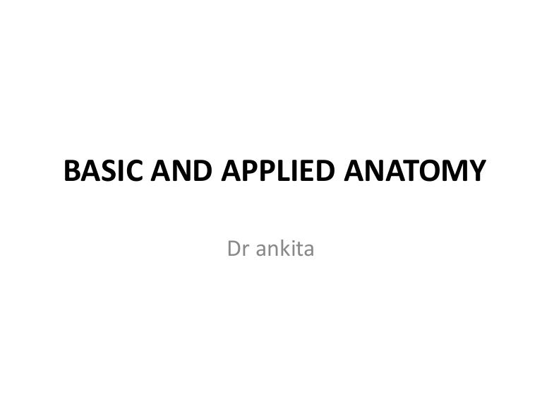 Applied Anatomy 2