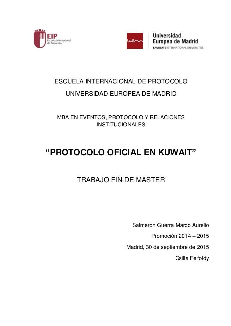 PROTOCOLO OFICIAL DE KUWAIT_TFM Definitivo