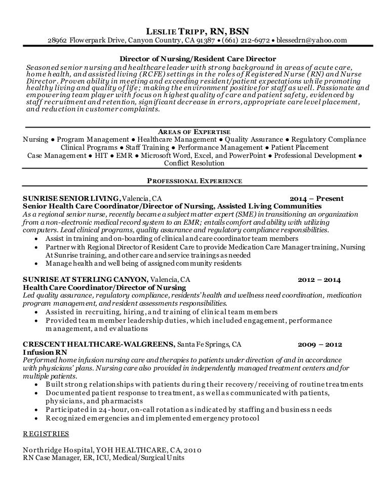 Hospital ...  Director Of Nursing Resume