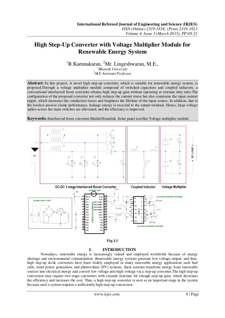 High Step Up Converter With Voltage Multiplier Module For Renewable E Stepupconvertercircuitjpg