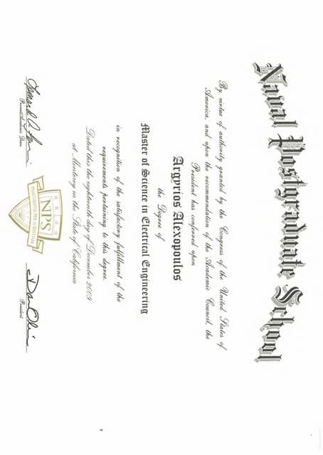 Mechanical Engineer diploma