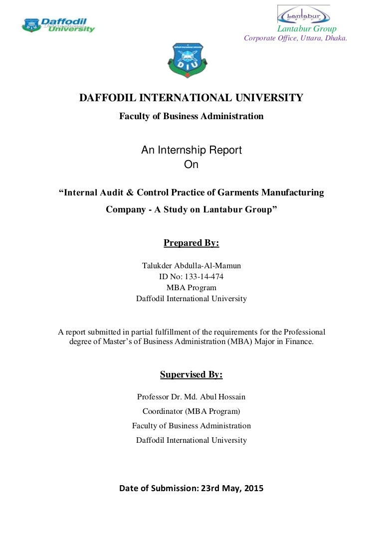 """internship report in auditing Audit internship vs tax internship i've been asked many times by many different people, """"what are the differences between interning in the tax department and the audit department"""" at first this question seemed easy because tax and audit have so many obvious differences."""