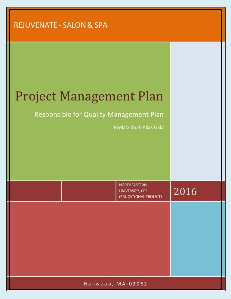 Reekita Quality Management Plan Final Project For Open A Salon