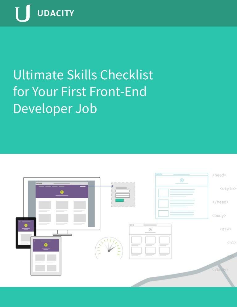 Ultimate Skills Checklist for Your First Front-End Developer Job